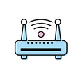 router wifi connection network technology vector image