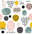 seamless fdashion pattern with hand drawn stains vector image