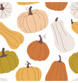 seamless pattern with pumpkins in pastel colors vector image vector image