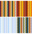 seamless stripes pattern set vector image vector image