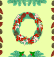 Seamless texture christmas wreath and pine cones vector image
