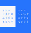 set nature icons or logos vector image