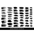 set of black paint ink grunge dirty brush vector image vector image
