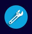 spanner icon button logo symbol concept vector image vector image