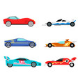 sport speed automobile and offroad rally car vector image vector image