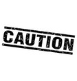 square grunge black caution stamp vector image vector image