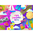 summer holidays and beach vacation vector image