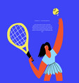 tennis sports tourney flat banner template vector image