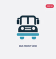two color bus front view icon from mechanicons vector image