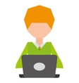 user computer laptop isolated vector image vector image