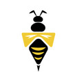wasp flat icon vector image