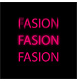 word fashion written three times with a pink vector image vector image