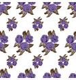 seamless background of flowers vector image