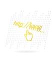 glass web hand vector image