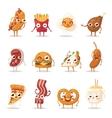 Fast food emotion vector image