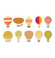 air ballon icon set cartoon style vector image vector image