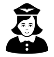 Airline Stewardess Flat Icon vector image