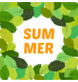 background with summer leaves vector image