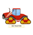 big tractor machinery icon vector image