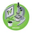 Biology vector image