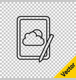 black line weather forecast icon isolated on vector image vector image