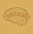 Brain Success vector image vector image