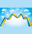bright rainbow and clouds vector image vector image