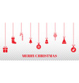 christmas garlands on transparent background vector image vector image