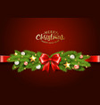 christmas greeting card with traditional vector image