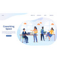 co-working space in an open plan office vector image