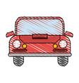 color crayon stripe front view automobile vector image vector image