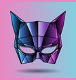 colored mask superhero woman vector image vector image