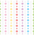 colorful polka dots pattern vector image vector image