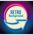colorful retro sign with lights vector image vector image