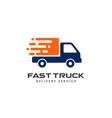 courier logo design template shipment logo design vector image