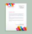 creative colorful letterhead design vector image vector image