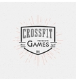 CrossFit badges logos and labels for any use vector image vector image