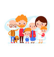 cute happy smiling big family vector image vector image