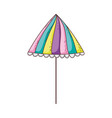 cute umbrella isolated icon vector image