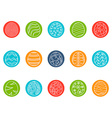 easter egg round button icons set vector image