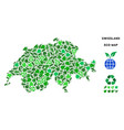 ecology green composition swissland map vector image vector image