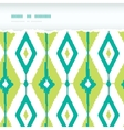 Emerald green ikat diamonds horizontal torn vector image