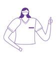 female nurse staff character worker medical vector image