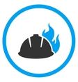 Fire Helmet Icon vector image