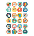 Flat Design Icons 6 vector image vector image
