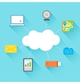 Flat Technology Design of Cloud Computing vector image