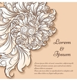 Floral Invitation Card Template vector image vector image