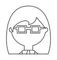 geek woman cartoon vector image vector image