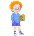 ginger chessplayer vector image vector image