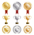 gold rosettes vector image vector image